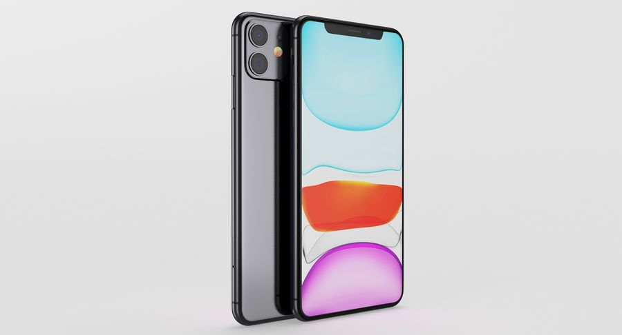 iPhone 11 royalty-free 3d model - Preview no. 9