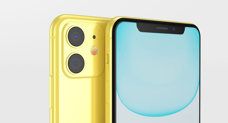 iPhone 11 royalty-free 3d model - Preview no. 8
