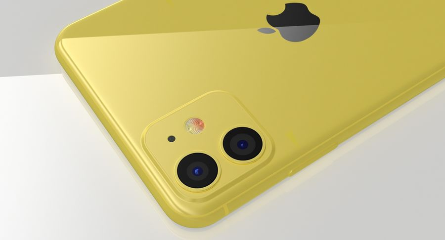 iPhone 11 royalty-free 3d model - Preview no. 20