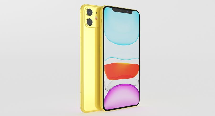 iPhone 11 royalty-free 3d model - Preview no. 14