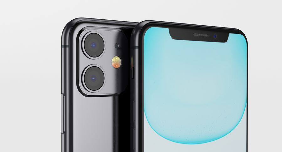 iPhone 11 royalty-free 3d model - Preview no. 3