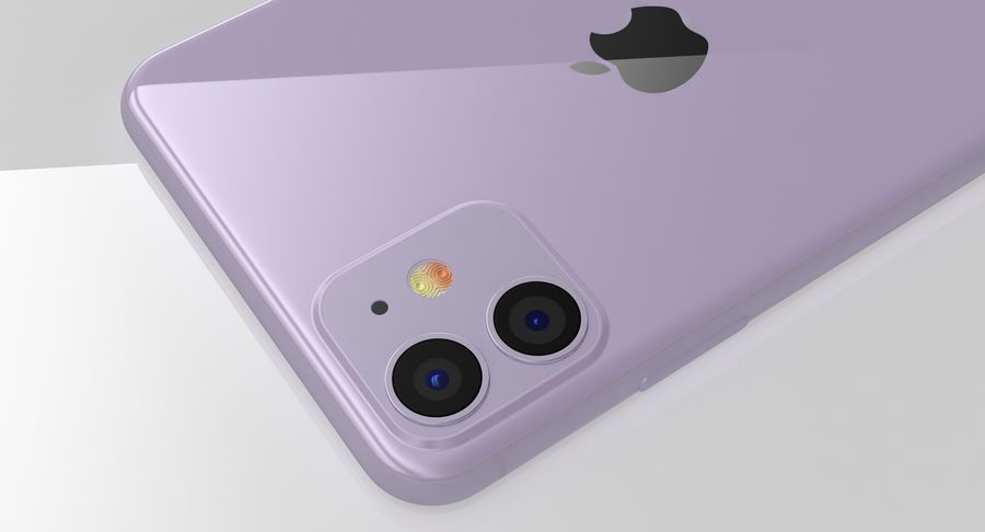 iPhone 11 royalty-free 3d model - Preview no. 17