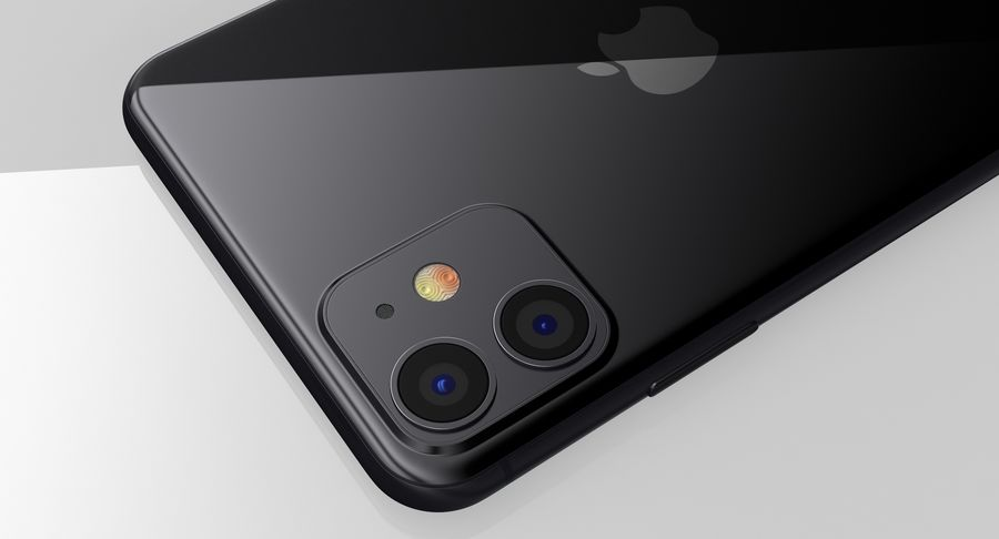 iPhone 11 royalty-free 3d model - Preview no. 15