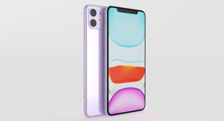 iPhone 11 royalty-free 3d model - Preview no. 11