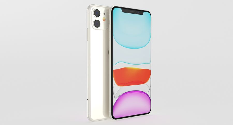 iPhone 11 royalty-free 3d model - Preview no. 13