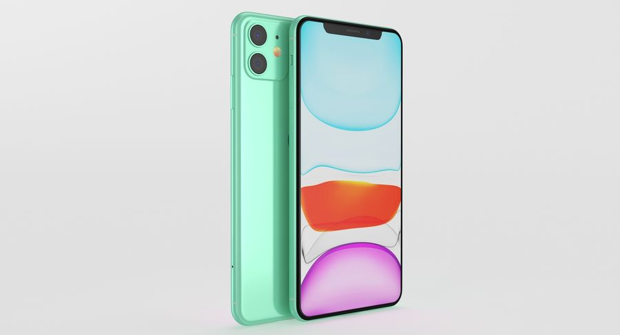 iPhone 11 royalty-free 3d model - Preview no. 10