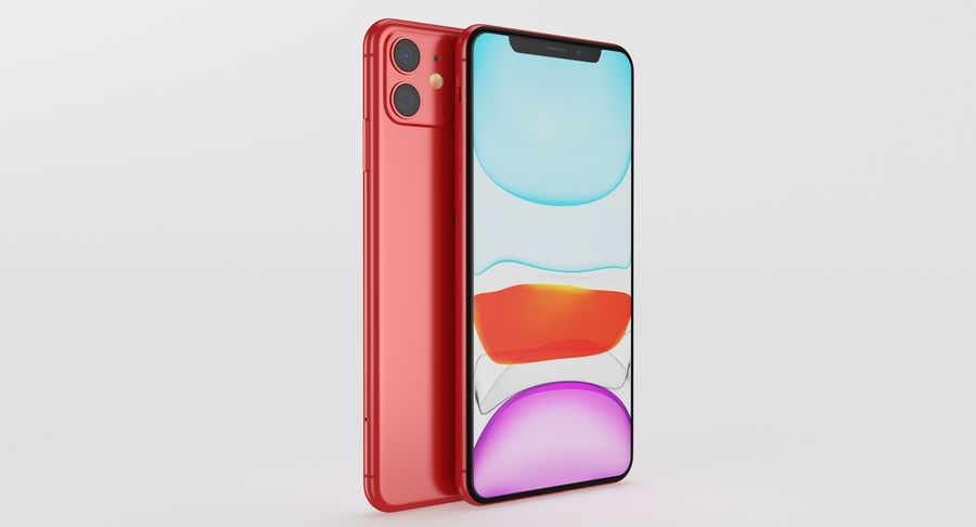 iPhone 11 royalty-free 3d model - Preview no. 12