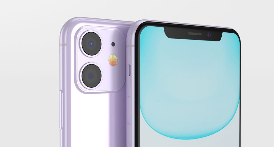 iPhone 11 royalty-free 3d model - Preview no. 5