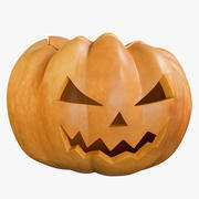 Pumpkin Clean Angry Emotion 3d model