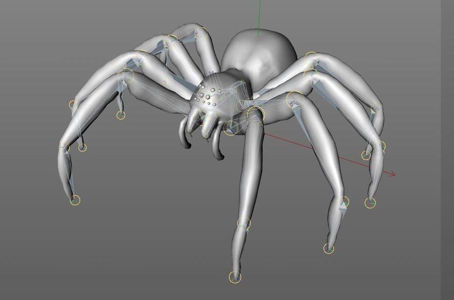 Tarantula Spider Rigged royalty-free 3d model - Preview no. 9