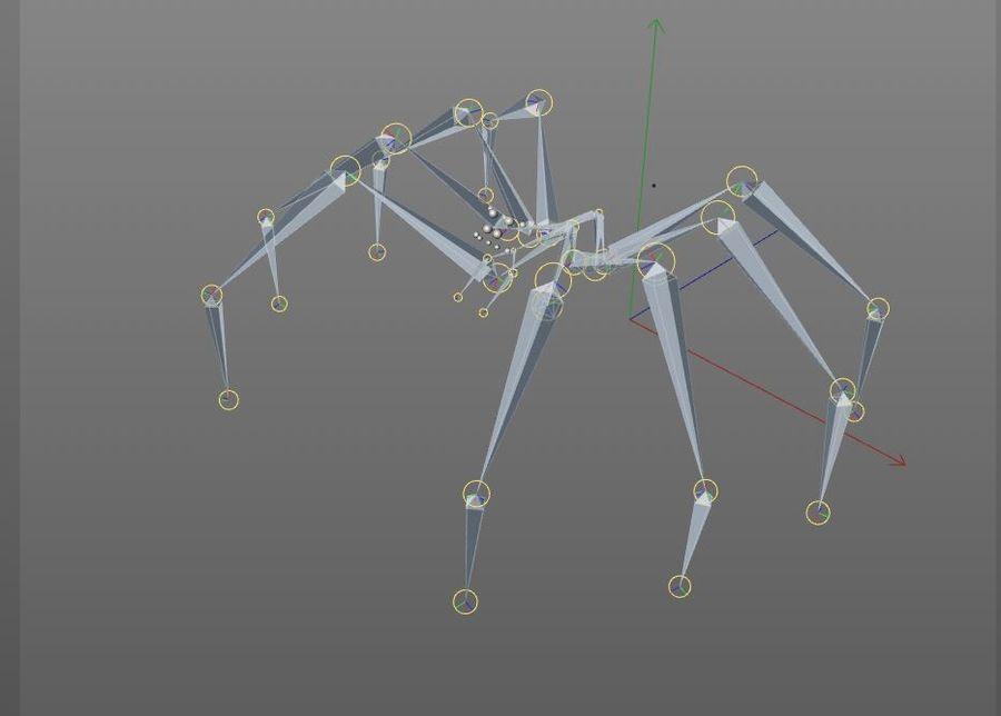Tarantula Spider Rigged royalty-free 3d model - Preview no. 11