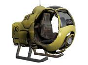 차세대 항공기 3d model