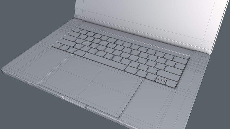 MacBook Pro de 15 pulgadas royalty-free modelo 3d - Preview no. 1
