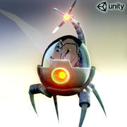 Spider Robot Game ready character 3d model