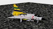 Dassault Mirage 2000-C Tribute Ayrton Senna 3d model