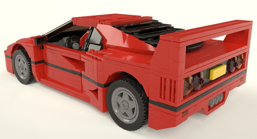 Lego Sports Car royalty-free 3d model - Preview no. 3