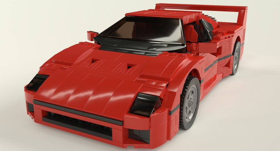 Voiture de sport Lego royalty-free 3d model - Preview no. 2