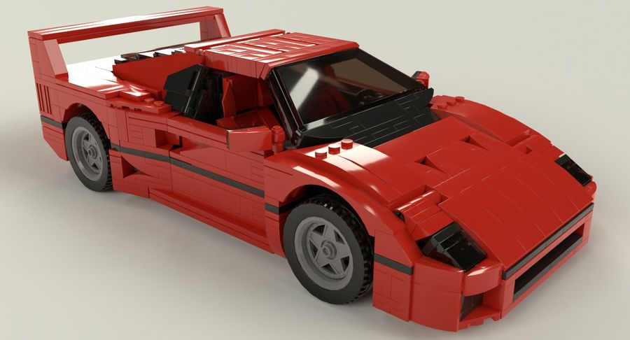 Voiture de sport Lego royalty-free 3d model - Preview no. 1