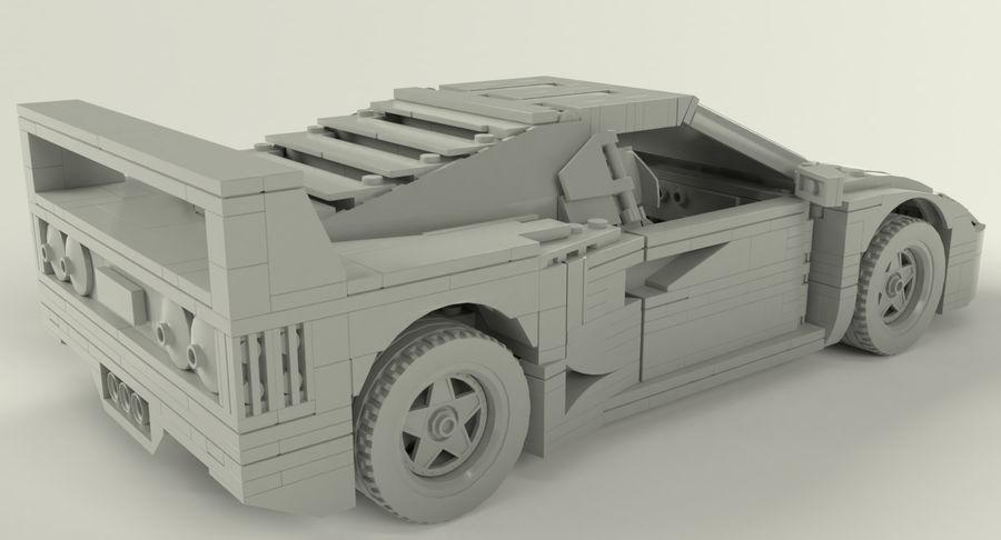 Lego Samochód sportowy royalty-free 3d model - Preview no. 7
