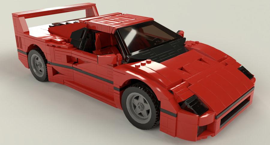 Lego Samochód sportowy royalty-free 3d model - Preview no. 1