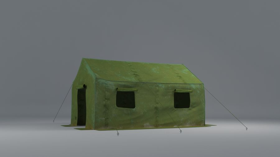 Tente armée royalty-free 3d model - Preview no. 1