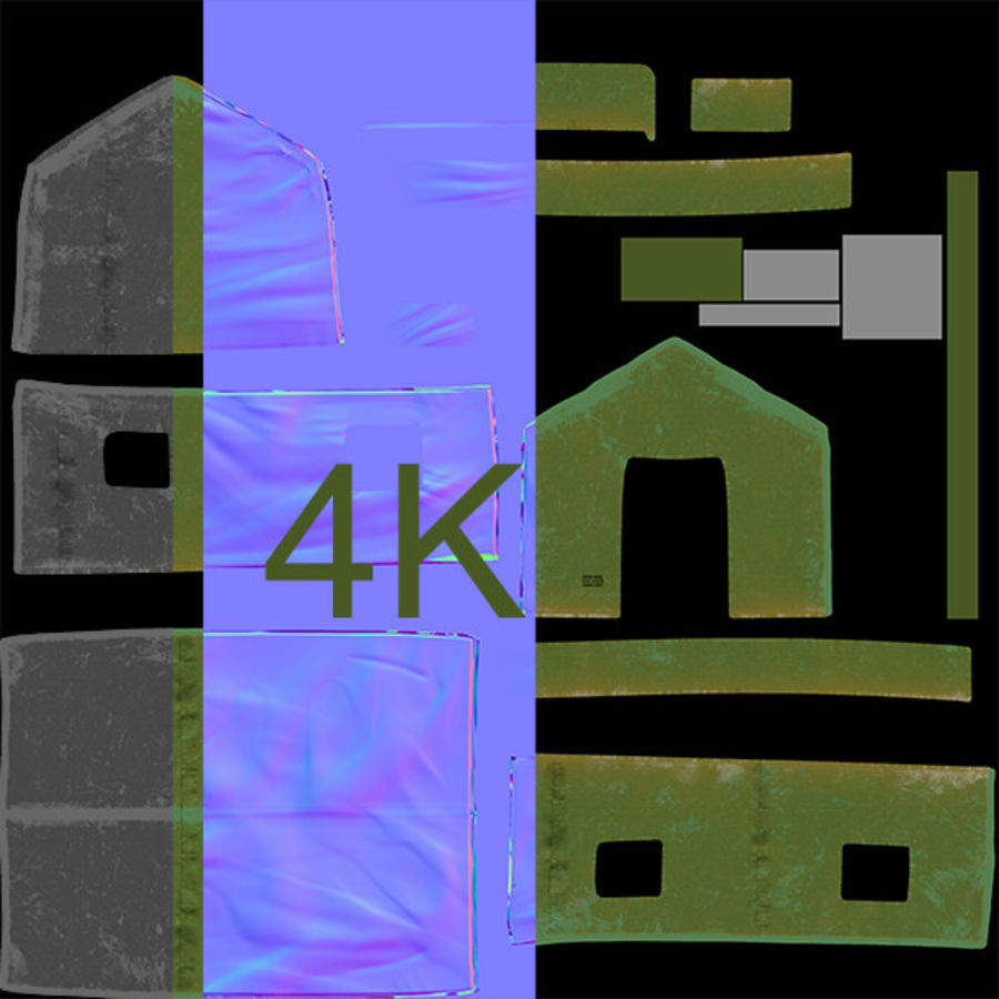 Tente armée royalty-free 3d model - Preview no. 12