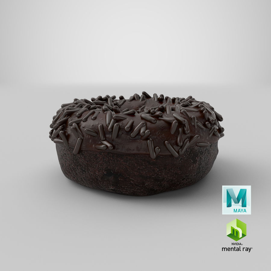 Ciambella al cioccolato royalty-free 3d model - Preview no. 34