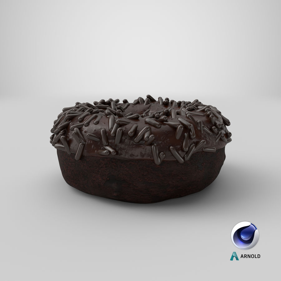 Ciambella al cioccolato royalty-free 3d model - Preview no. 29