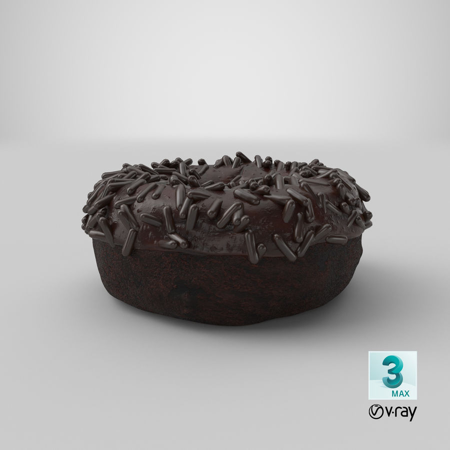 Ciambella al cioccolato royalty-free 3d model - Preview no. 32