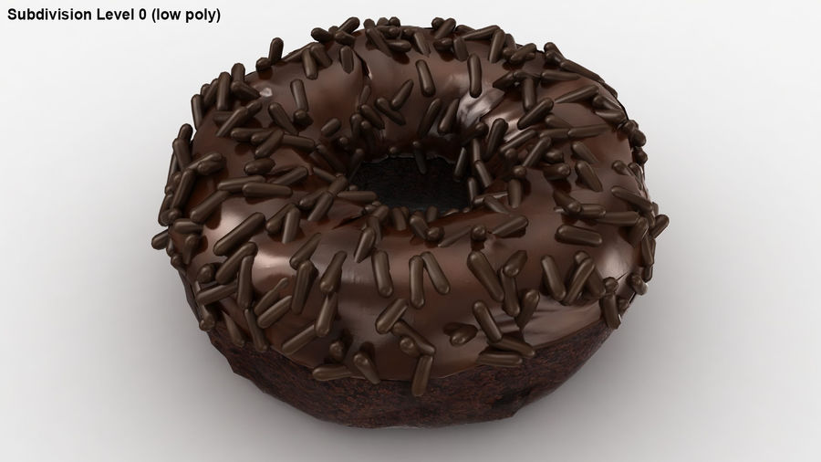 Ciambella al cioccolato royalty-free 3d model - Preview no. 22