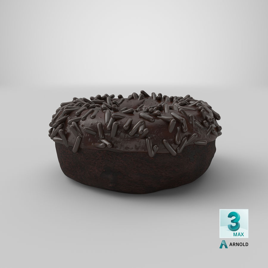 Ciambella al cioccolato royalty-free 3d model - Preview no. 30