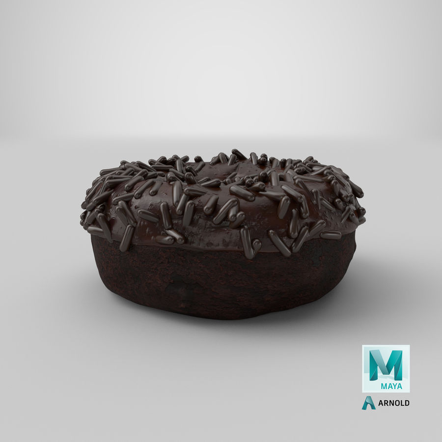 Ciambella al cioccolato royalty-free 3d model - Preview no. 33