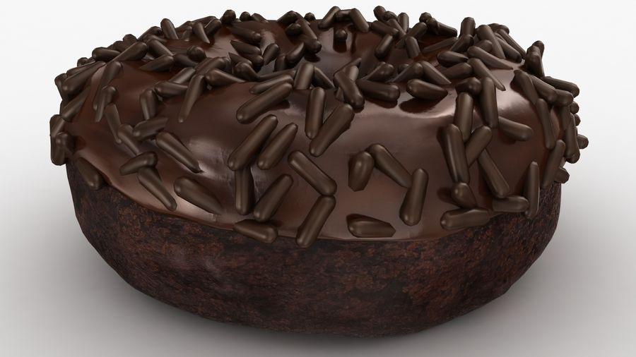 Ciambella al cioccolato royalty-free 3d model - Preview no. 15