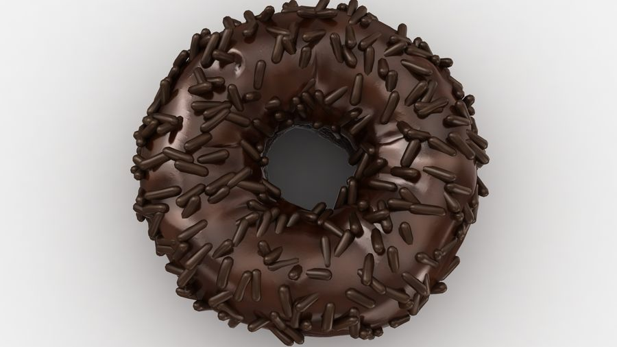 Ciambella al cioccolato royalty-free 3d model - Preview no. 9