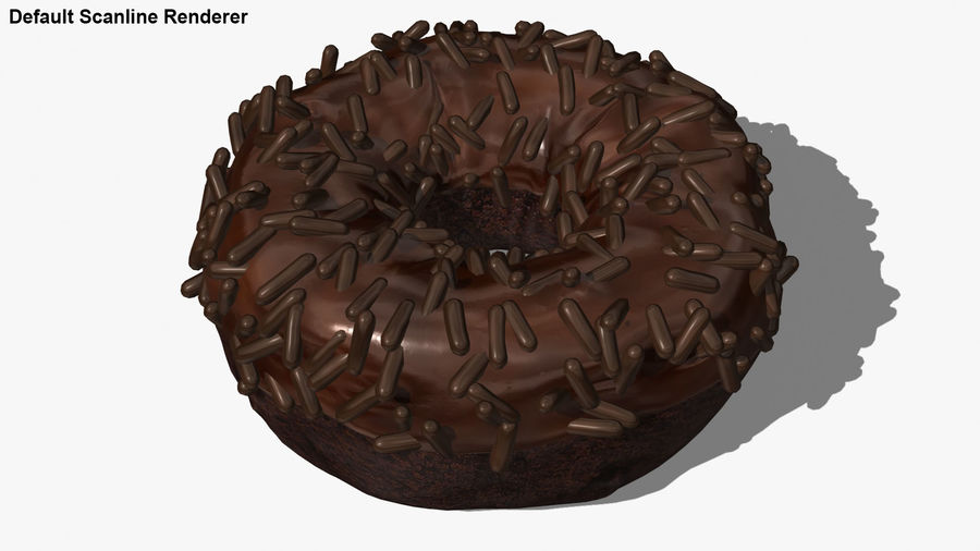 Ciambella al cioccolato royalty-free 3d model - Preview no. 25
