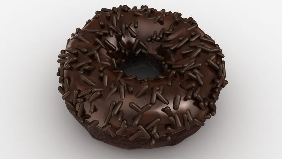 Ciambella al cioccolato royalty-free 3d model - Preview no. 7