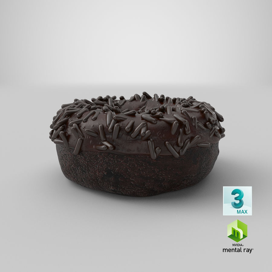 Ciambella al cioccolato royalty-free 3d model - Preview no. 31