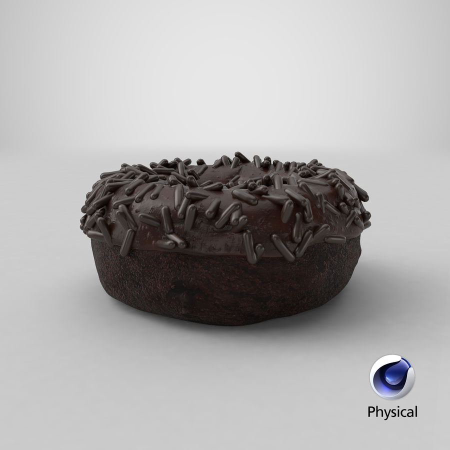 Ciambella al cioccolato royalty-free 3d model - Preview no. 28