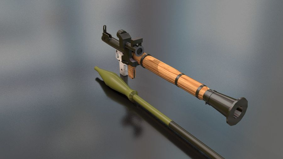 RPG-7 Handschwere Waffe royalty-free 3d model - Preview no. 12
