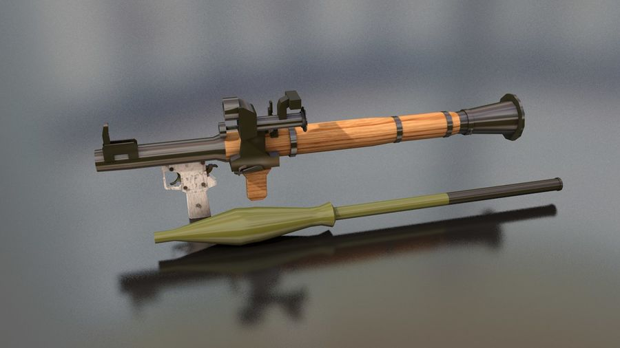 RPG-7 Handschwere Waffe royalty-free 3d model - Preview no. 15