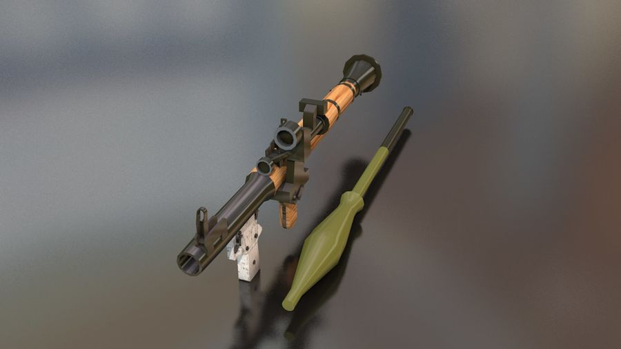 RPG-7 Handschwere Waffe royalty-free 3d model - Preview no. 3