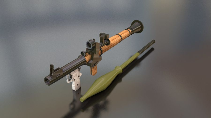 RPG-7 Handschwere Waffe royalty-free 3d model - Preview no. 2