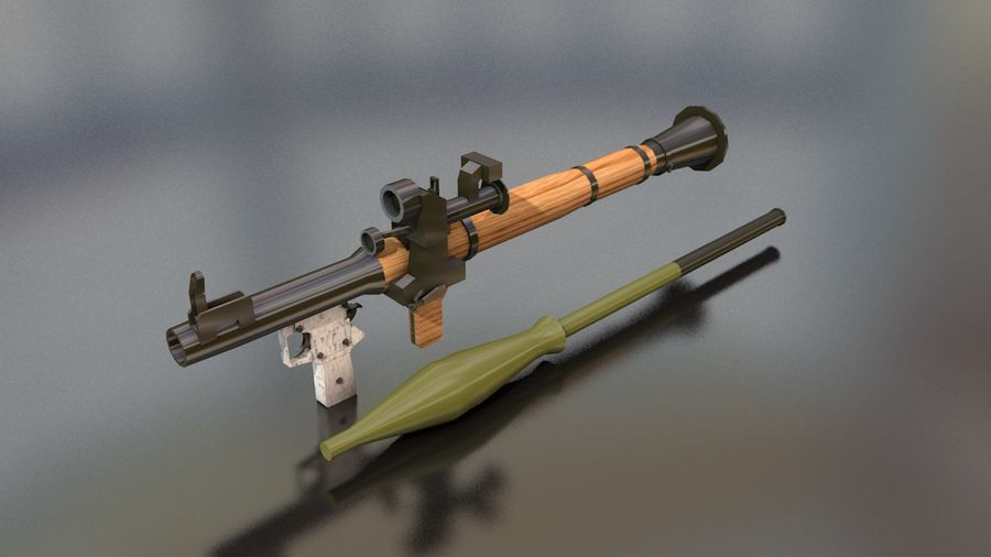 RPG-7 Handschwere Waffe royalty-free 3d model - Preview no. 1
