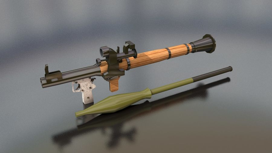 RPG-7 Handschwere Waffe royalty-free 3d model - Preview no. 16