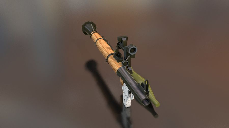 RPG-7 Handschwere Waffe royalty-free 3d model - Preview no. 5