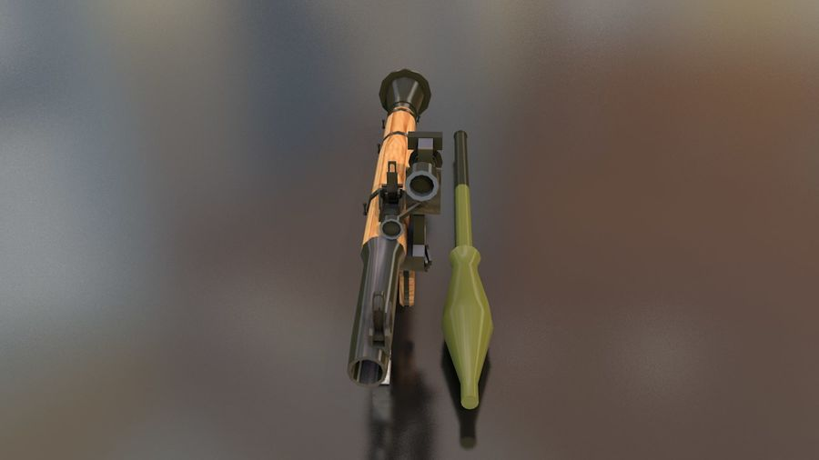 RPG-7 Handschwere Waffe royalty-free 3d model - Preview no. 4