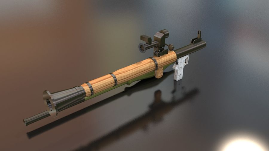 RPG-7 Handschwere Waffe royalty-free 3d model - Preview no. 9