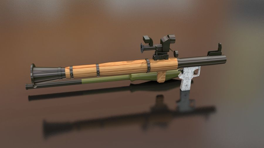 RPG-7 Handschwere Waffe royalty-free 3d model - Preview no. 8