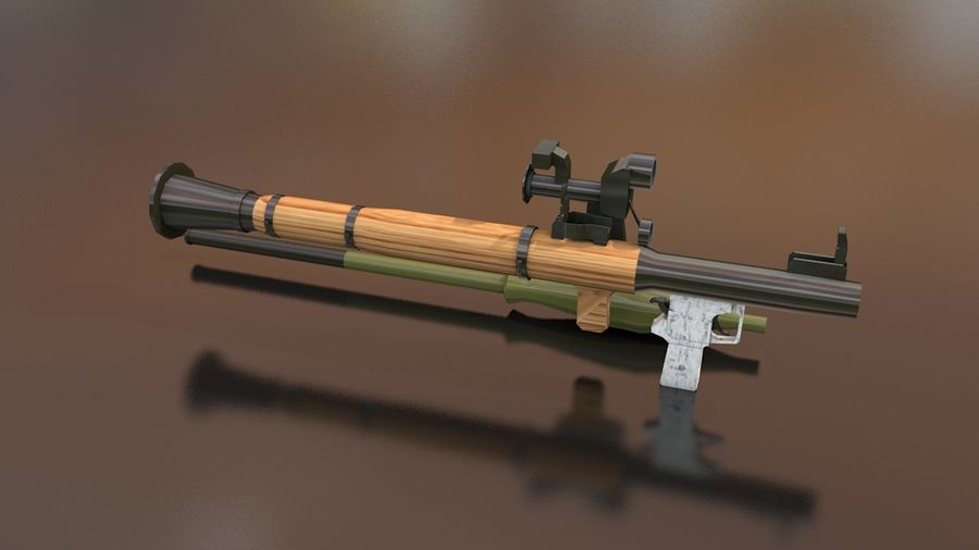 RPG-7 Handschwere Waffe royalty-free 3d model - Preview no. 7