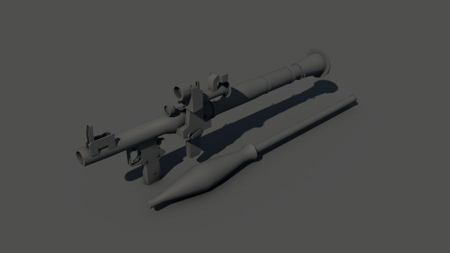RPG-7 Handschwere Waffe royalty-free 3d model - Preview no. 17